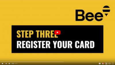 Bee Card – Step 3 – Register your card