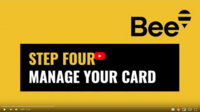 Bee Card – Step 4 – Manage your card